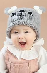 หมวกไหมหูกระต่ายผูกโบว์น่ารัก