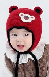 หมวกไหมพรมแต่งมิกกี้ ด้านบนมีหูเล็กๆ