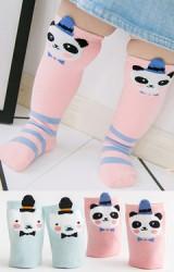 ถุงเท้าเด็กแบบยาวลายแพนด้าและหมี