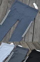 กางเกงผ้ายืดคลุมท้องด้านข้างแต่งลายทาง