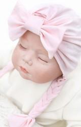 หมวกสาวน้อยแต่งโบว์ห้อยเปียน่ารักๆ จาก Angel Neitiri