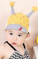 หมวกแก๊ปเด็กลายจุดและมิกกี้ แต่งเขายาวปลายดาว KUKUJI