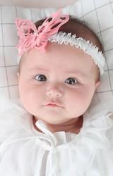 สายคาดผมผีเสื้อแสนสวย สายลูกไม้ยืดขาว  Angel Neitiri