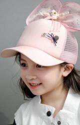 หมวกแก๊ปสาวน้อยด้านบนแต่งดาวและโบว์ใหญ่