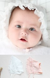 หมวกผูกคางเด็กขอบระบายผ้าโปร่งน่ารัก จาก Angel Neitiri