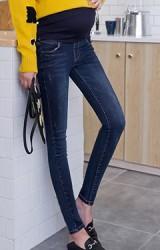 กางเกงยีนส์คลุมท้องขายาว ผ้านิ่มยืดหยุ่นได้ดี