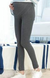 กางเกงเลคกิ้งคลุมท้องขายาว ตัดต่อโชว์ตะเข็บ 2 แถว
