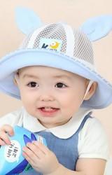 หมวก Bucket แต่งหูกระต่าย ตัวหมวกผ้าตาข่าย จาก KUKUJI