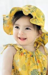 หมวกกันแดดสาวน้อยผ้าฝ้ายลายดอก จาก GZMM