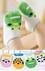 ถุงเท้าเด็กเล็กลายหน้าสัตว์น่ารัก แบบสั้นมีกันลื่น