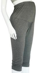 กางเกงเลคกิ้งคนท้อง 4 ส่วน ปลายขาเย็บย่น   มีกระเป๋าข้าง