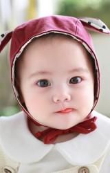 หมวกผูกคางแต่งหูเล็กน่ารัก ด้านในผ้าลาย จาก TUTUYA