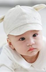 หมวกแก๊ปเด็กอ่อนแต่งหูน่ารักๆ ด้านหลังยางยืด TUTUYA