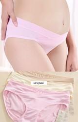 กางเกงในเอวต่ำสำหรับคนท้องเอวป้าย  แพ็ค 3 ตัว