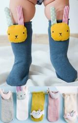ถุงเท้าเด็กแต่งตุ๊กตาสัตว์นูนน่ารักๆ