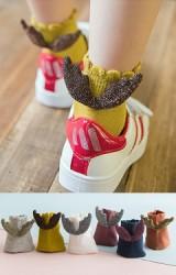 ถุงเท้าเด็กแต่งปีกเลื่อมน่ารัก