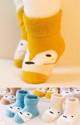 ถุงเท้าเด็กข้อสั้นแบบหนา ลายหน้าจิ้งจอกน่ารัก