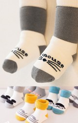 ถุงเท้าเด็กข้อสั้นแบบหนา ไม่มีกันลื่น