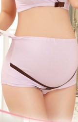 กางเกงในคนท้องเอวสูงมีพยุงครรภ์ ตัดขอบสีเข้มด้านล่าง