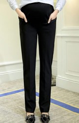 กางเกงทำงานคนท้องขายาวสีดำ ทรงสุภาพ
