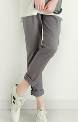 กางเกงทำงานขายาวสำหรับคนท้อง ผ้าไม่ยืด