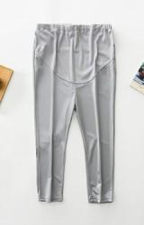 กางเกงเลคกิ้งคลุมท้องขา 4 ส่วน ผ้าเงาลื่น