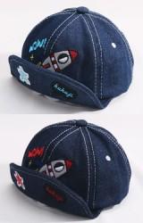 หมวกแก๊ปยีนส์ปักรูปจรวด  จาก KUKUJI