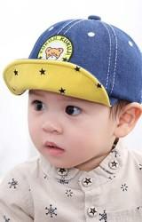 หมวกแก๊ปยีนส์ปักหน้าหมีน้อย จาก KUKUJI