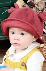 หมวกกวางผ้าลูกฟูก หมวกปีกรอบกันแดดน่ารัก