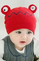 หมวกไหมพรมเด็กการ์ตูนกบน้อย  GZMM