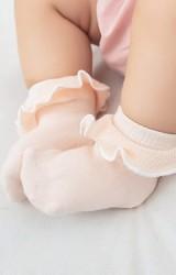 ถุงเท้าเด็กหญิงขอบระบายหวานๆ แบบข้อสั้น