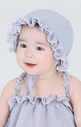 หมวกเด็กหญิง ระบาย 2 ชั้น ใส่ได้ทั้ง 2 ด้าน