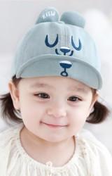 หมวกแก๊ปเด็กปักหน้าหมี หูปัก HELLO จาก TUTUYA