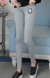 กางเกงเลคกิ้งคนท้องขายาวปักแพนด้าน่ารัก