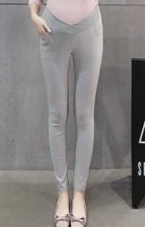 กางเกงคนท้องขายาวแบบเอวต่ำ ทรงสวย ผ้ายืดหยุ่น