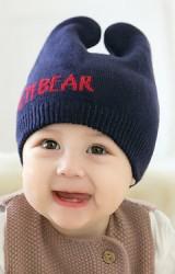 หมวกไหมพรมหูตั้ง อักษร I'M BEAR จาก GZMM
