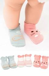 ถุงเท้าเด็กลายน่ารักๆ แพ็ค 3 คู่ สีสวย มีกันลื่น