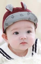 หมวกแก๊ปเด็กแต่งหูกระต่ายเล็กปักแครอท  TUTUYA