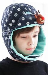 หมวกกันหนาวเด็กลายหิมะแต่งกวาง kocotree