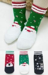 ถุงเท้าเด็กเซ็ตปีใหม่(C024) แบบหนาแพ็ค 3 คู่