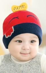 หมวกไหมพรมลูกเจี๊ยบ ด้านบนแต่งหัวใจ CUTE จาก GZMM