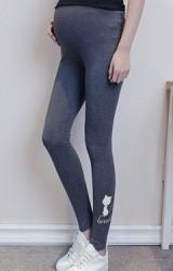 กางเกงเลคกิ้งคลุมท้องขายาวปลายขาปักรูปแมวน่ารัก