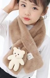 ผ้าพันคอผ้าขนสัตว์แต่งตุ๊กตาหมี
