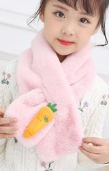 ผ้าพันคอผ้าขนสัตว์แต่งแครอท