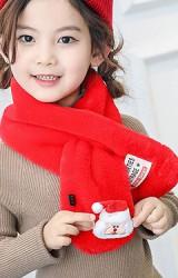 ผ้าพันคอผ้าขนสัตว์แต่งซานตาคลอสและกวาง