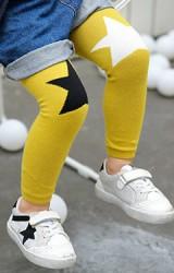 กางเกงเลคกิ้งเด็ก หัวเข่าลายดาว