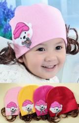 หมวกปอยผมสาวน้อยแต่งตุ๊กตาหิมะ
