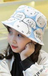 หมวก Bucket ลายหน้ายิ้มสกรีนอักษร จาก KUKUJI