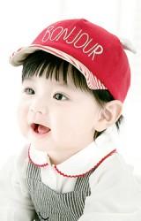 หมวกแก๊ปเด็ก ปัก BONJOUR จาก GZMM