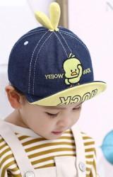 หมวกแก๊ปเป็ดเหลือง ใต้ปีกสีพื้น KUKUJI
